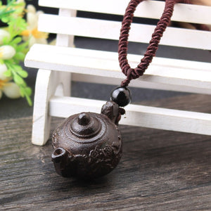 Sandalwood Stone Pendant Necklace