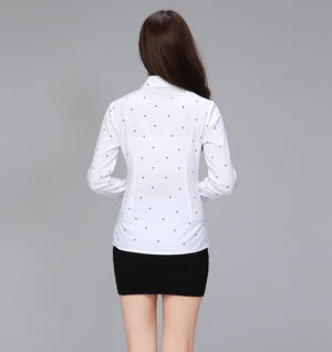 Elegant Office Turn-down Collar Button Blouse - LEPITON