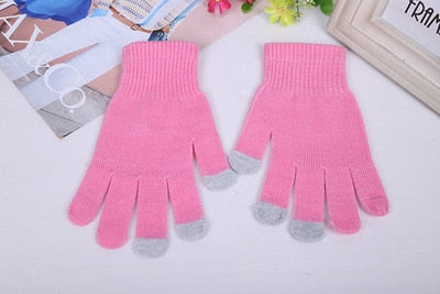 Knitted Thick Touch Screen Skiing Gloves