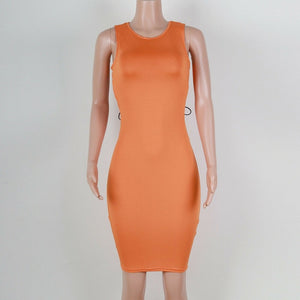 Bodycon Back Bandage Mini Dress - LEPITON
