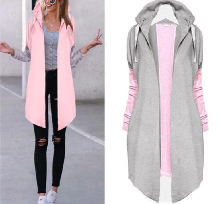 Patchwork Casual Long Cardigan Coat