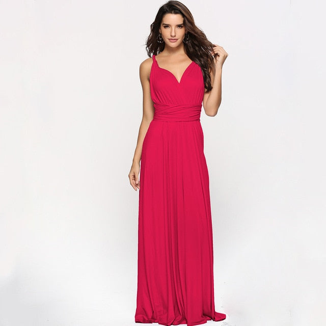 Multi-Rope Cross-back Long Bandage Dress