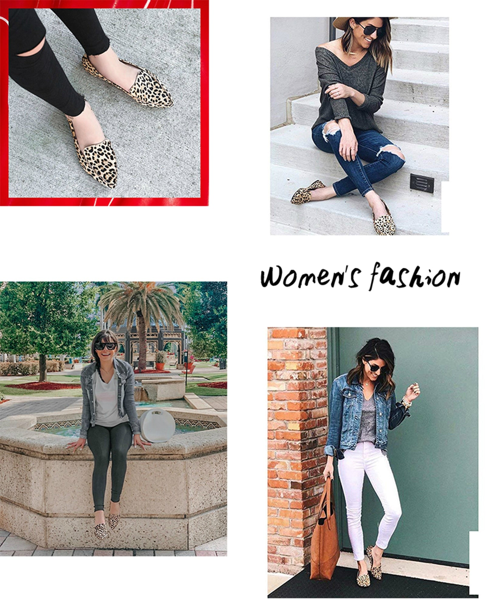 Leopard Flat Breathable and Comfortable Shoes - LEPITON
