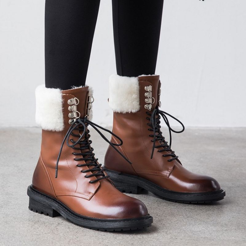 Genuine Leather Ankle Boots - LEPITON