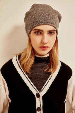 Cashmere Knitted Warm Hat - LEPITON
