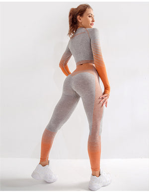 Seamless Long Sleeve Yoga Set - LEPITON