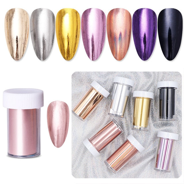 Holographic Nail Foil Set in Multiple Modern Designs
