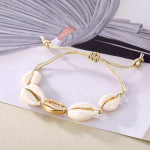 Bohemian Vintage Shell Rope Chain Anklet