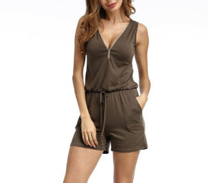 Casual Sleeveless Short Jumpsuit - LEPITON