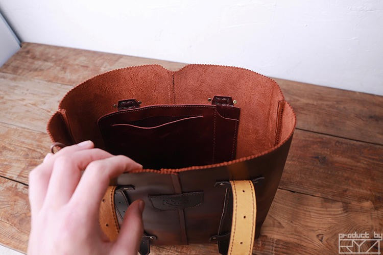 Genuine Leather Shoulder Bag - LEPITON