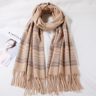 Cashmere Plaid Wool Scarf