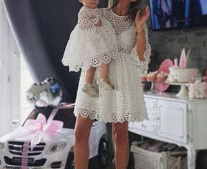 Mother Daughter Floral Lace Dress - LEPITON