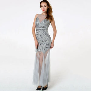 Elegant Beads Sequin Long Dress - LEPITON