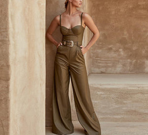 PU Leather Jumpsuit - LEPITON