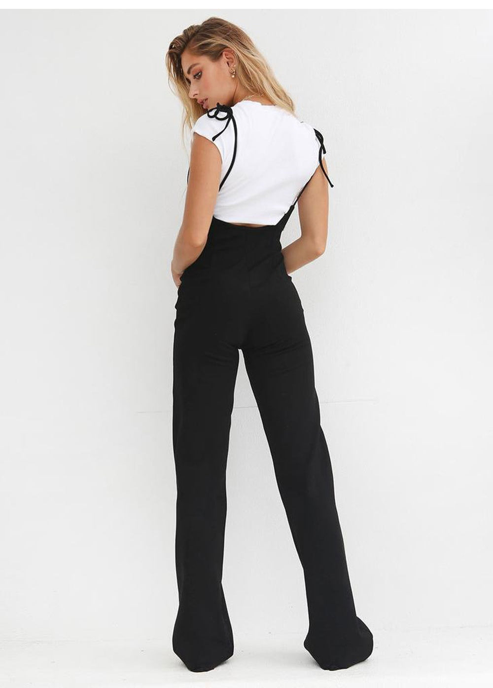 High-Waist Wide Leg Flare Trousers - LEPITON