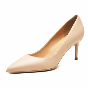 Split Leather 6.5 cm High Heel Pumps - LEPITON