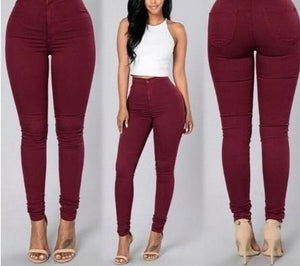 High-Waist Casual Stretch Pencil Pants - LEPITON