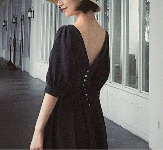 Vintage Chiffon Long Dress