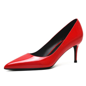 Patent Leather 6.5CM High Heel Shoes - LEPITON