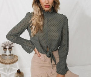 Long Sleeve Loose Blouse - LEPITON