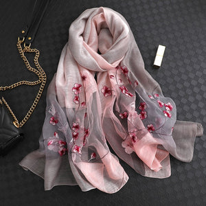 Embroidery High Quality Soft Wool Scarf - LEPITON