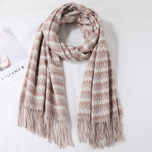 Cashmere Plaid Wool Scarf - LEPITON
