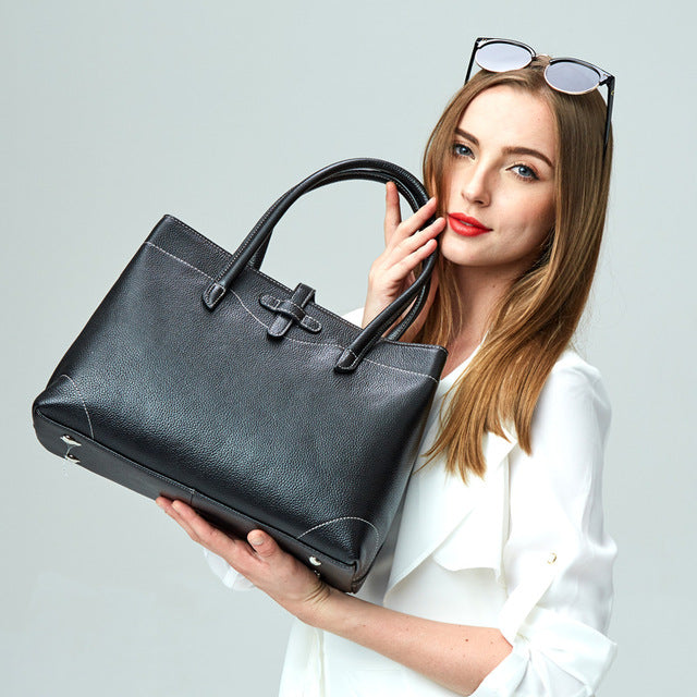 Luxury Genuine Leather Handbag - LEPITON