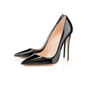 Patent Leather Pointed-Toe Stilettos - LEPITON