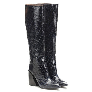 Warm High Heels Motorcycle Boots - LEPITON