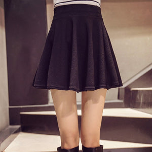 High-Waist Pleated Mini Skirts - LEPITON
