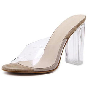 Jelly Crystal Heel Pumps - LEPITON