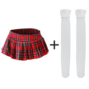 Mini Pleated Plaid Skirt