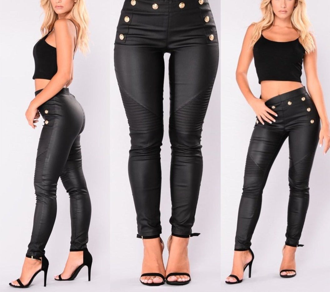 Push-Up Denim Stretch High-Waist Skinny Pants