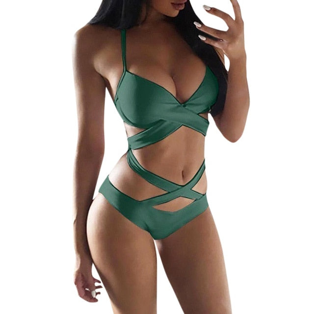 Bandage Push-Up Padded Monokini - LEPITON
