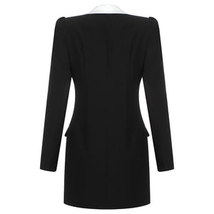 Runway Rivet Bodycon Blazer Dress - LEPITON