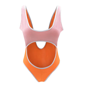 Vibrant Hollow-Out Monokini - LEPITON