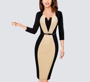 Elegant Optical Illusion Bodycon Dress