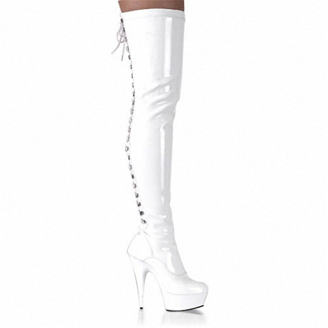 Over-the-Knee Stiletto High-Heel Knight Boots - LEPITON