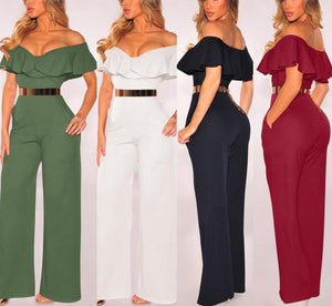 Wide Loose Ruffled Jumpsuit - LEPITON