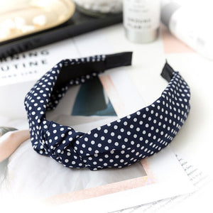 Knot British Style Striped Fabric Headband