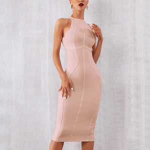 Bandage Sleeveless Dress
