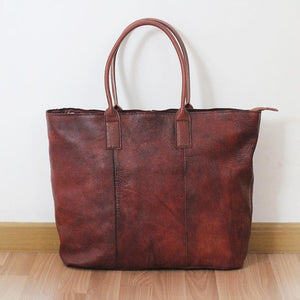 Genuine Leather Vintage Shoulder Bag - LEPITON