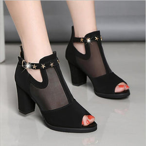 High Heels Hollow Mesh Shoes