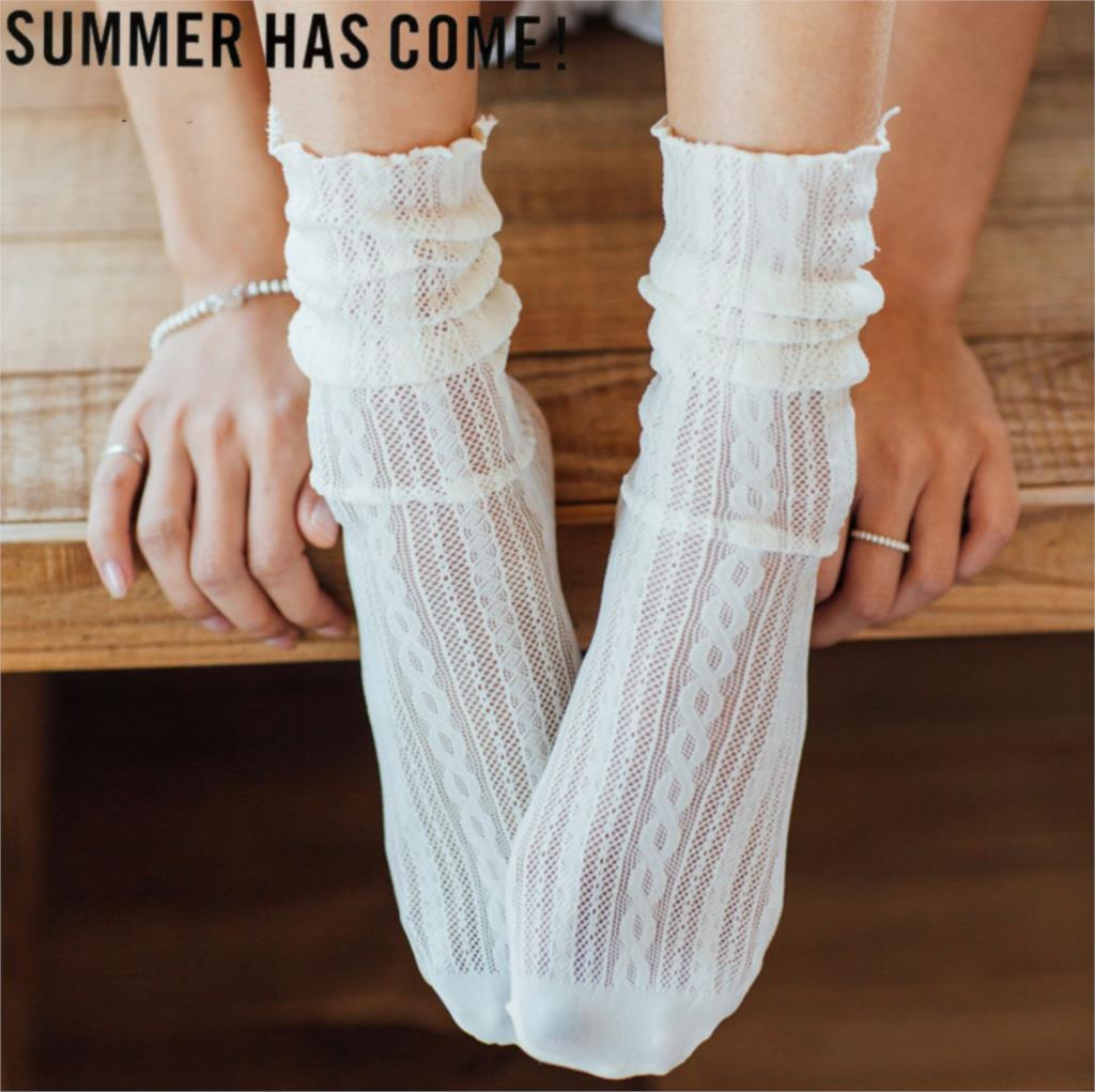 Long Hollow Out Soft Socks