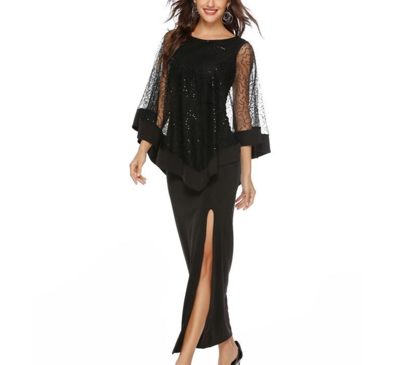 Bohemian Batwing Sleeve Formal Dress