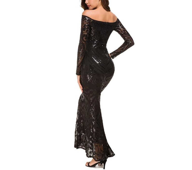 Long Sequins Dress - LEPITON