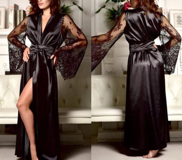 Silk Lace Nightgown - LEPITON