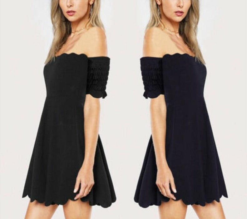 Off-Shoulder Formal Elegant Mini Dress - LEPITON