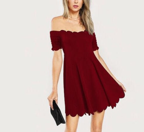 Off-Shoulder Formal Elegant Mini Dress
