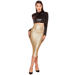 Sequined Two-Pieces Bandage Dress - LEPITON